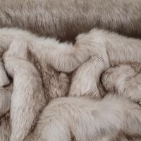 Kožušina umelá - Krémovo hnedý melír - cena za 10 cm