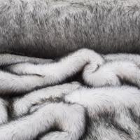 Kožušina umelá - Bielo sivý melír - cena za 10 cm