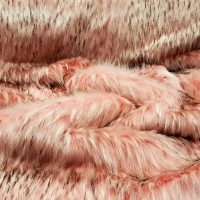 Kožušina umelá - Ružová svetlá melírová II - cena za 10 cm