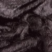 Kožušina umelá - elegantná čierna - cena za 10 cm