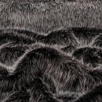 Kožušina umelá - Čierno - strieborný melír - cena za 10 cm