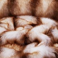 Kožušina umelá - Zlato krémový melír - cena za 10 cm