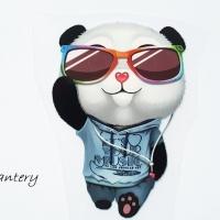 Nažehľovacia nálepka - Panda 60 x 90 mm