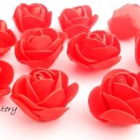 Penové ružičky - červené