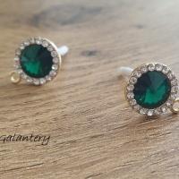 fb811d856 Základ na náušnice kruh Smaragdovo zelený