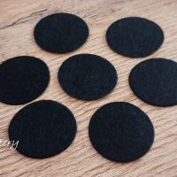Filc krúžok - 30 mm - Čierny