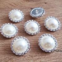 Ozdobý perličkový gombík - 23 mm