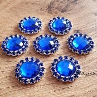 Ozdoba štrasová 18 mm - Kráľovská modrá