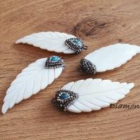 Prívesok - Anjelské krídla 20 x 55 mm