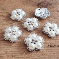 Ozdoba perličková 26 mm - Krémová