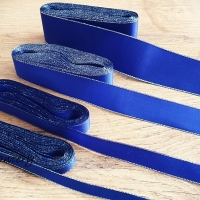 Taftová stuha s lurexom - 10 mm - Kráľovská modrá