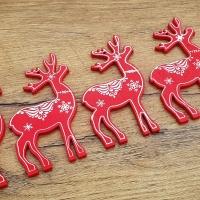 Vianočný výlisok Sobík - Červený