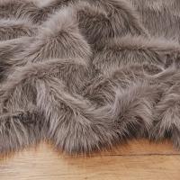 Kožušina umelá - sivá líška - cena za 10 cm