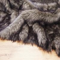 Kožušina umelá - šedo - čierny vlk - cena za 10 cm