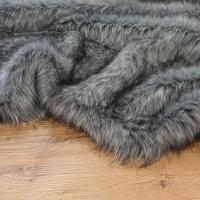 Kožušina umelá - sivo - čierny melír - cena za 10 cm