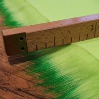 Kožušina umelá - neónovozelená - cena za 10 cm