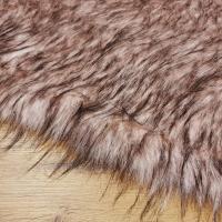 Kožušina umelá huňatá - Staroružový melír TOP - cena za 10 cm