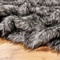 Luxusná umelá kožušina - Silver Wolf - cena za 10 cm