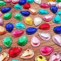 Ozdobné kamienky - 10 x 14 mm - Farebný mix - 200 kusov