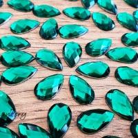 Ozdobné kamienky 8 x 13 mm - Emerald