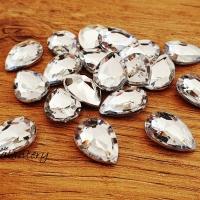 Ozdobné kamienky 13 x 18 mm - Crystal