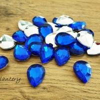 Ozdobné kamienky 13 x 18 mm - Kráľovská modrá