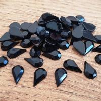 Ozdobné kamienky 5 x 8 mm - Čierne