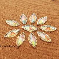Ozdobné kamienky 7 x 15 mm - AB Crystal