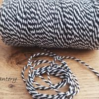 Dekoračný špagát - Čierno biely