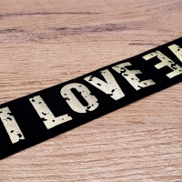 Guma 40 mm – Love - Čierno zlatá