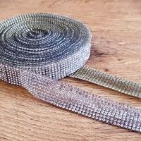 Hot fix nažehľovacia lemovka - 10 mm - Crystal - cena za 10 centimetrov