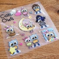 Nažehľovacia nálepka - Cute Owl - 12 x 12 cm