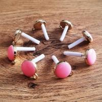 Základ na náušnice - 12 mm - cena za pár - Ružový Pastelový