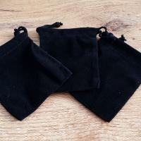 Ozdobné vrecúško 70 x 90 mm - zamatové čierne