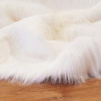 Umelá kožušina - lesklá biela - cena za 10 cm