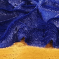 Kožušina umelá - elegantná kráľovská modrá - cena za 10 cm