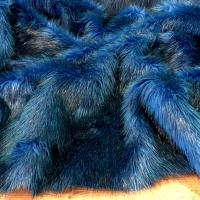 Umelá kožušina - tyrkysový melír - cena za 10 cm