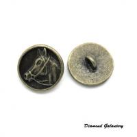 Kovový gombík Koník 15 mm