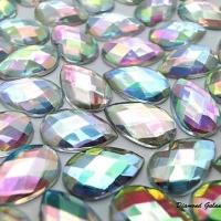 Ozdobné kamienky 8 x 13 mm - AB Crystal