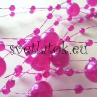 Perličková girlanda fialová