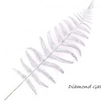 Ozdobná flitrová vetvička - strieborná