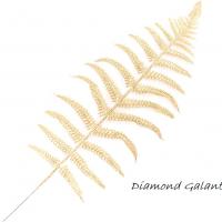 Ozdobná flitrová vetvička - zlatá