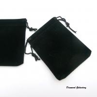Dekoračná taštička - čierna - 90 x 70 mm