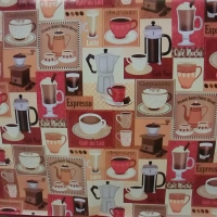 PVC obrus - Coffe