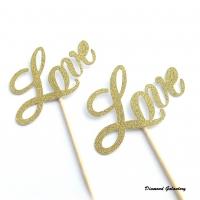 Ozdobný nápis - Love - jednostranný