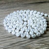 Girlanda perličková 8 mm - praskaná s dúhovým efektom