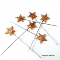 Špendlíky ozdobné Hviezdičky zlaté