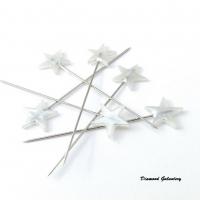 Špendlíky ozdobné Hviezdičky biele