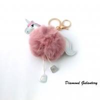 Kľúčenka Jednorožec - ružový