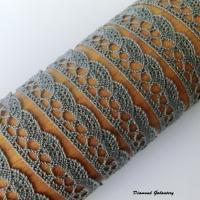 Bavlnená krajka - sivá - 13 mm